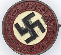 NSDAP Membership Pin by RZM 1/25