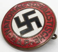 Transitional NSDAP Membership Pin by RZM 75