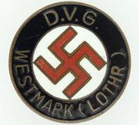 D.V.G. Westmark NSDAP Membership Pin by W. Redo