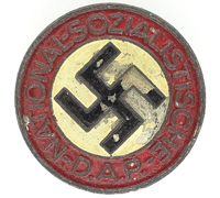 Buttonhole - NSDAP Membership Pin by RZM M1/120