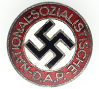 Buttonhole - NSDAP Membership Pin by RZM M1/34