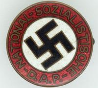 Transitional NSDAP Membership Pin by RZM 63