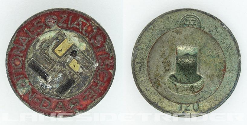 Buttonhole - NSDAP Membership Pin by RZM M1/120