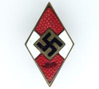 Hitler Youth Leader Visor Cap Badge by RZM M1/145
