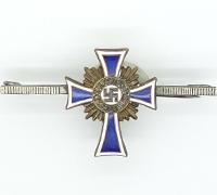 Miniature Lapel Pin Bronze Mothers Cross