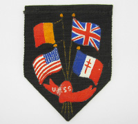 Unknown WWII United Flags Shield Arm Patch