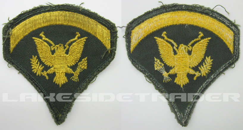U.S. Army Specialist 2nd Class / Specialist 5 rank Insignia 1956