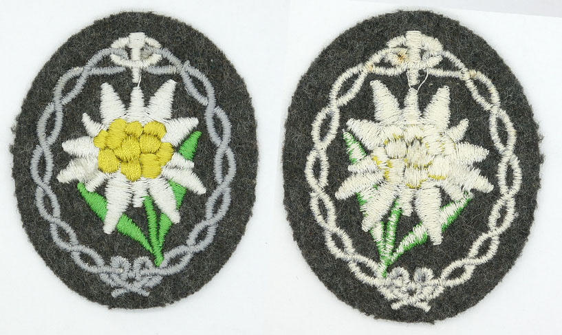 Army Mountain Troop Sleeve Edelweiss