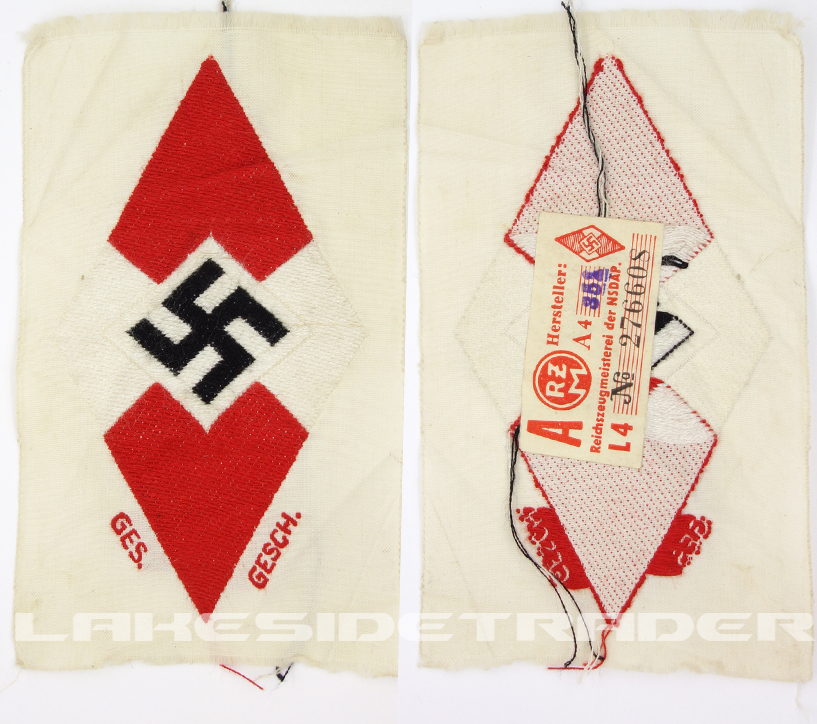Tagged Hitler Youth Clothing Diamond