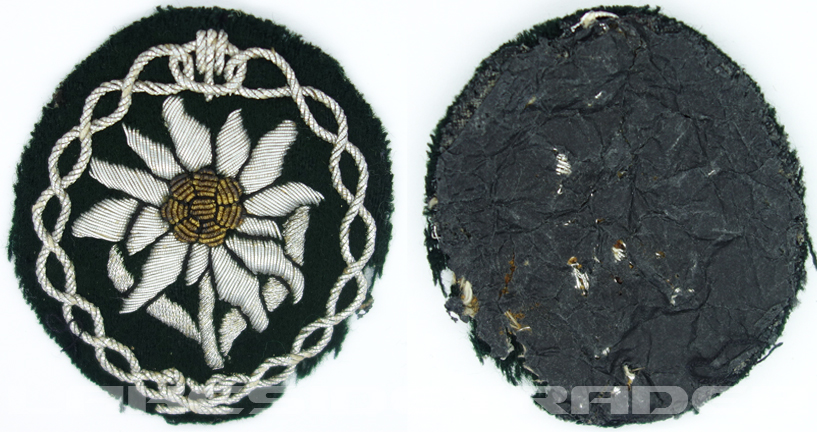 Army Officers Mountain Troop Sleeve Edelweiss