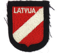 Waffen SS Latvian Volunteer Sleeve Shield