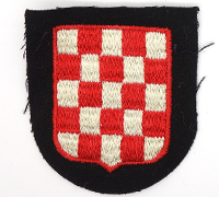 Waffen SS Croatian Volunteer Sleeve Shield