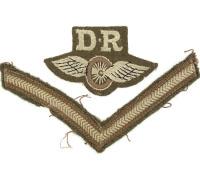 British  Dispatch Rider insignia & Lance Corporal chevron