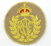 RCAF Women's Division Tropical Cap Badge