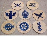 8 Navy EM Career Service Insignias