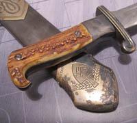 Rare Early Full Stag Eickhorn RAD EM Dagger
