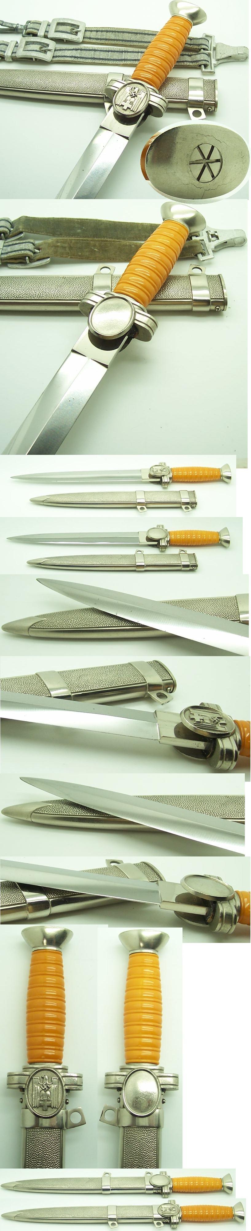 Social Welfare Leader Dagger with Hangers