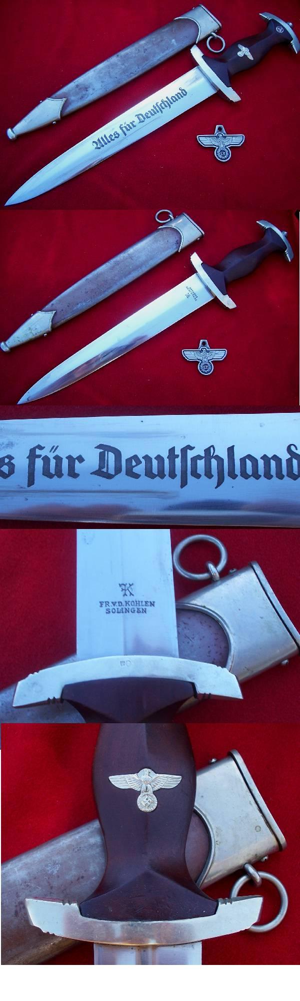 Early SA Dagger by Kohlen