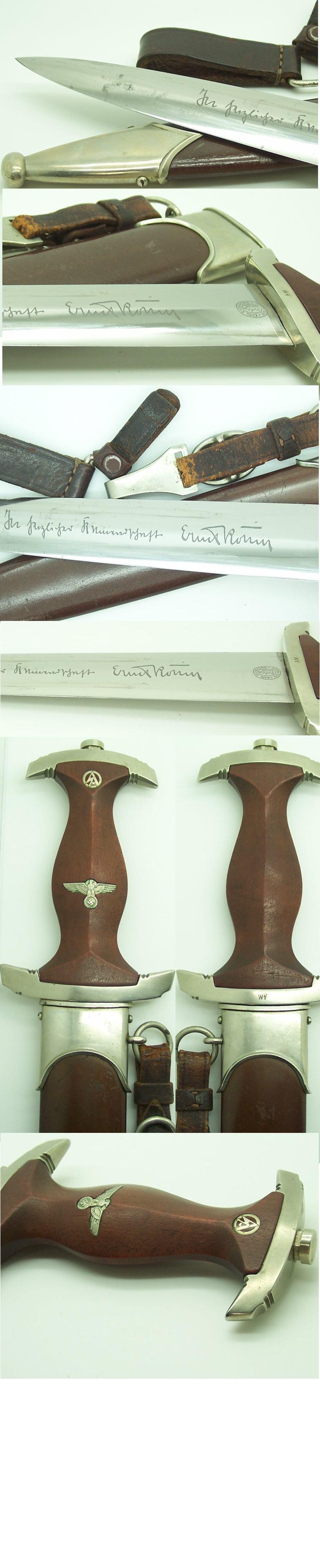 Full Röhm SA Dagger by C. Eickhorn