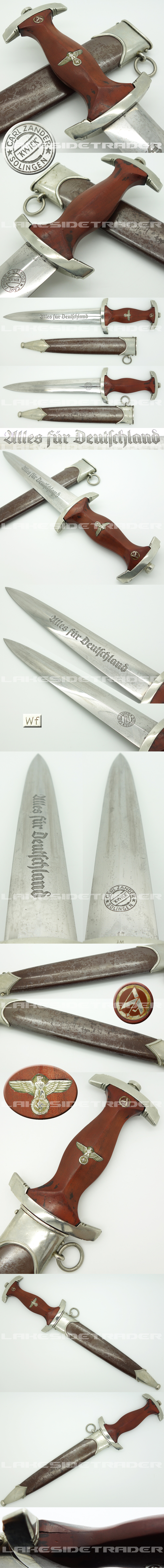 Rare Early SA Dagger by Carl Zander