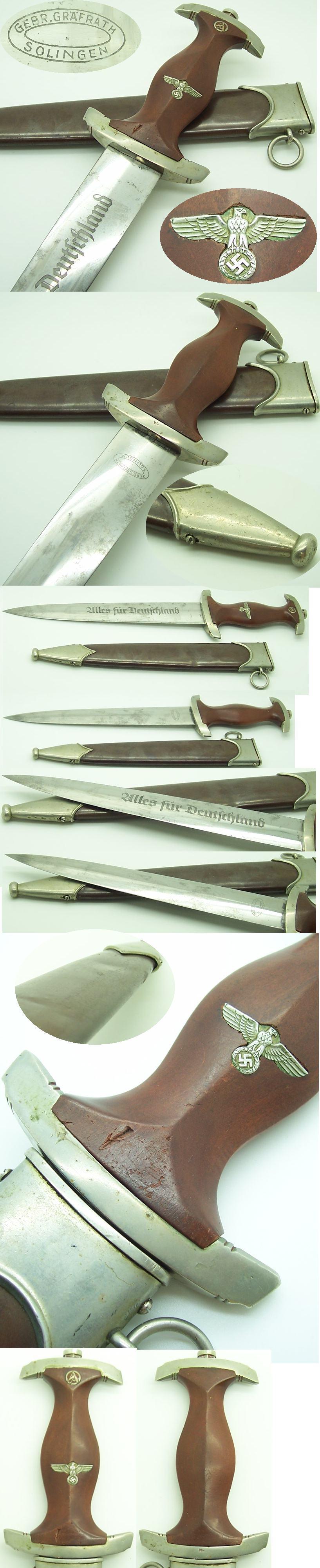 Early SA Dagger by Gebr. Grafrath