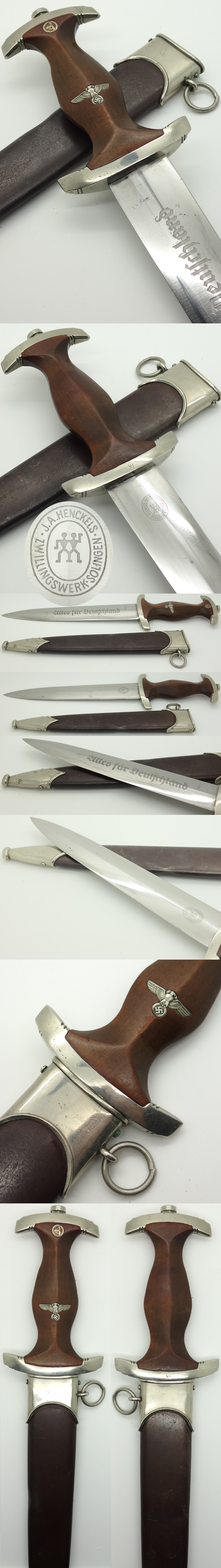 Early SA Dagger by J. A. Henckels