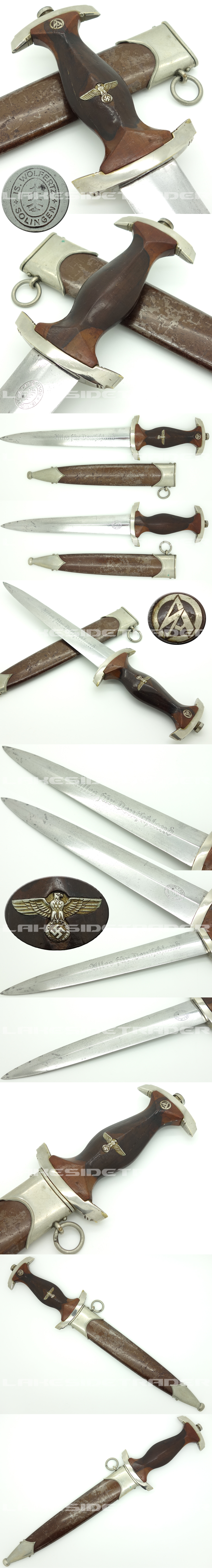 Rare - Early SA Dagger by Is. Wolfertz