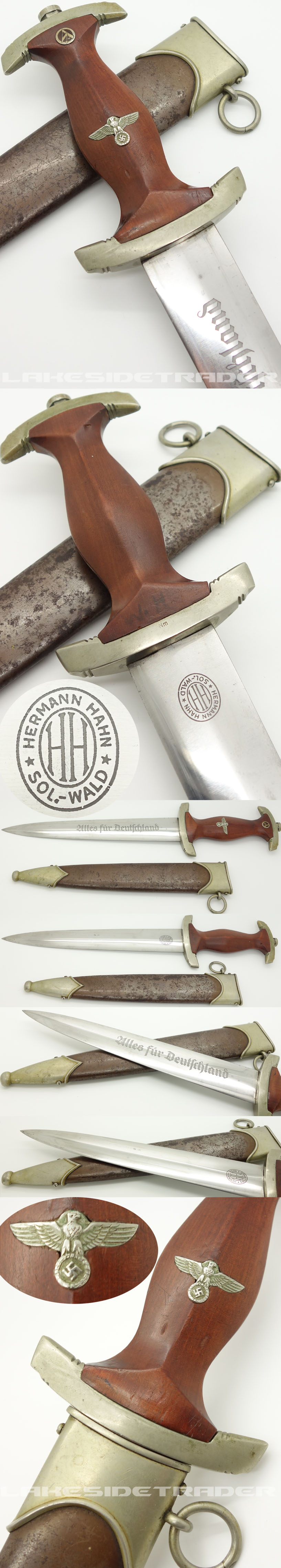 Early SA Dagger by Hermann Hahn