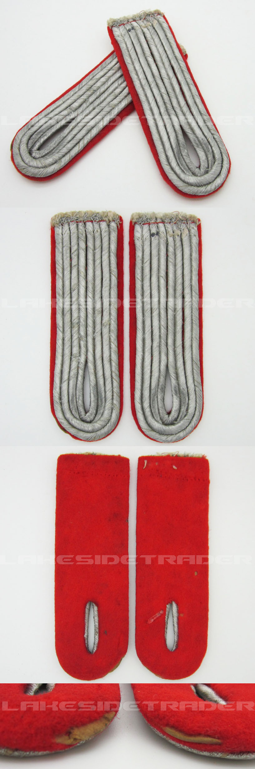 Luftwaffe Flak Artillery Leutnants Shoulder Boards