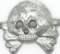 Unissued Panzer Collar Tab Skull