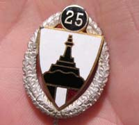 DRKB Veterans 25 Year Membership Stick Pin
