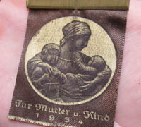 For Mother and Child 1934 Banner Pin