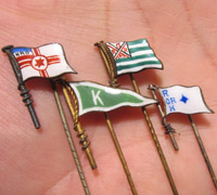Four State Flag Stickpins