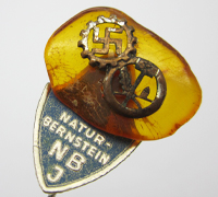 Amber NBJ/DAF Stickpin with Tag