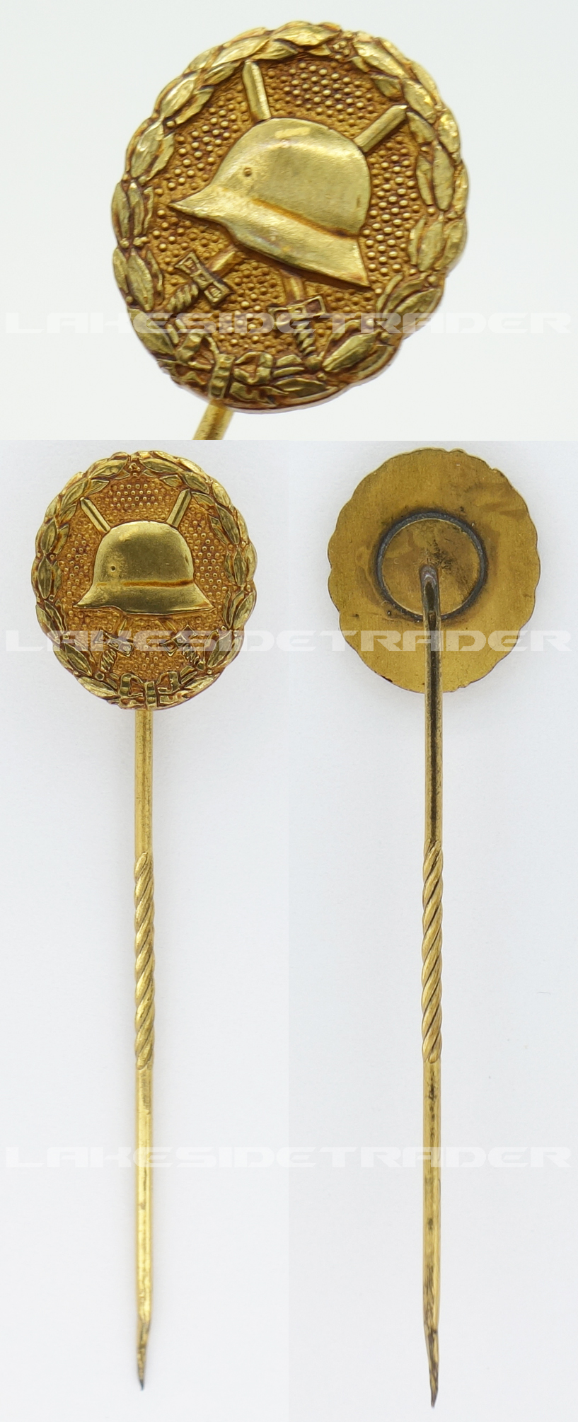Imperial Gold Wound Badge Stickpin