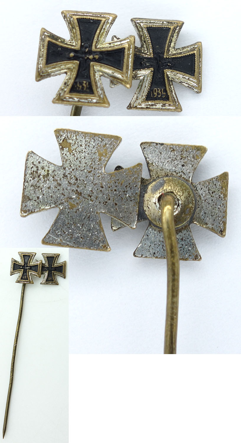 1957 Issue 1st and 2nd Class Iron Cross Stickpin