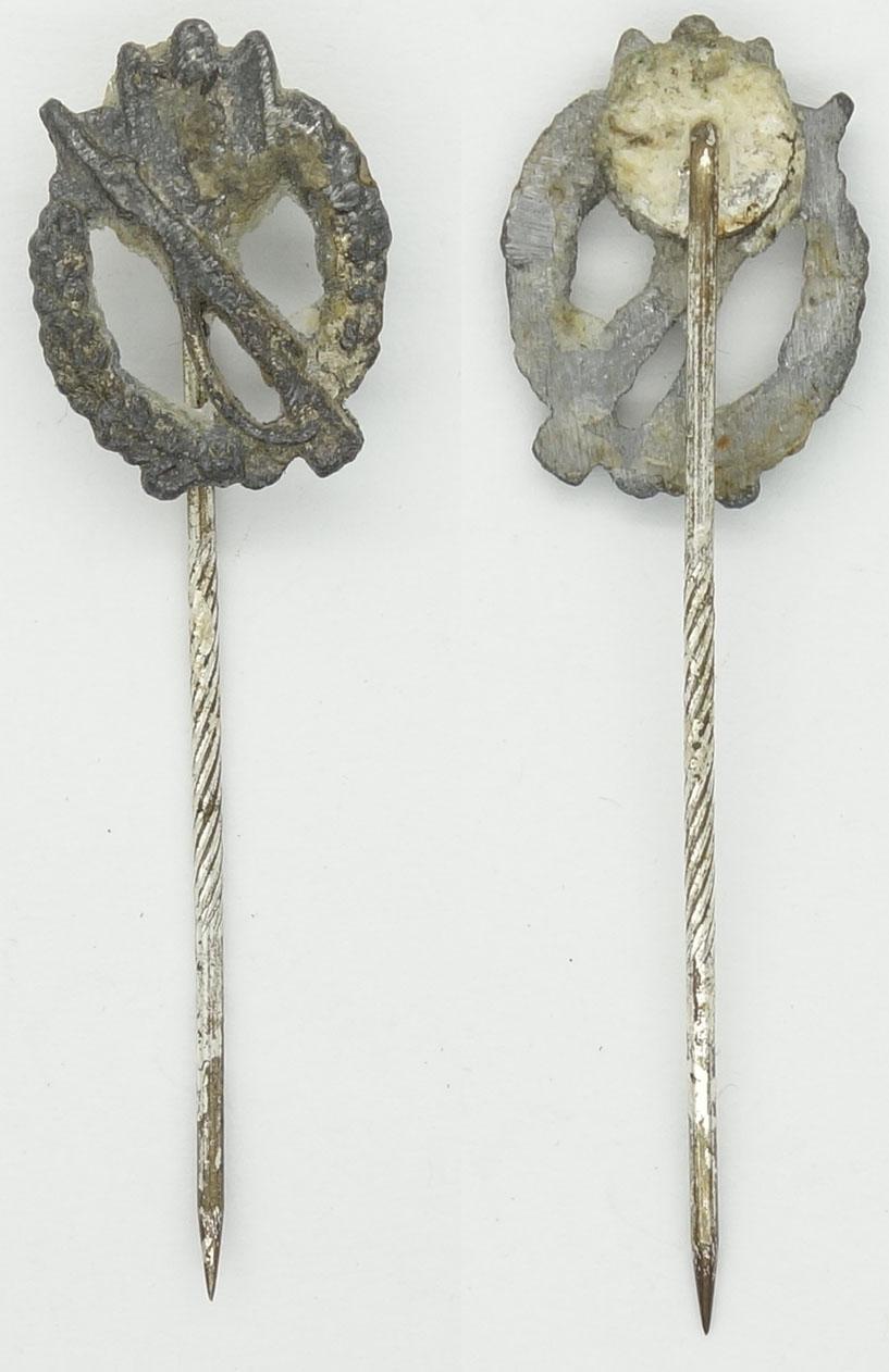 Infantry Assault Stickpin in Silver