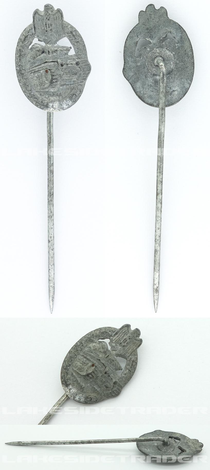 Stickpin - Silver Panzer Assault Badge