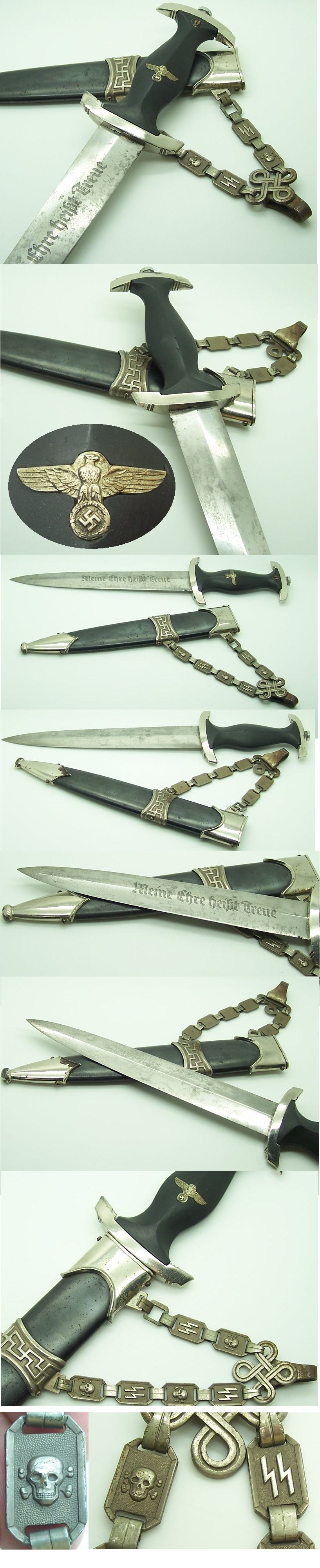 Officer's Chained Type II SS Dagger