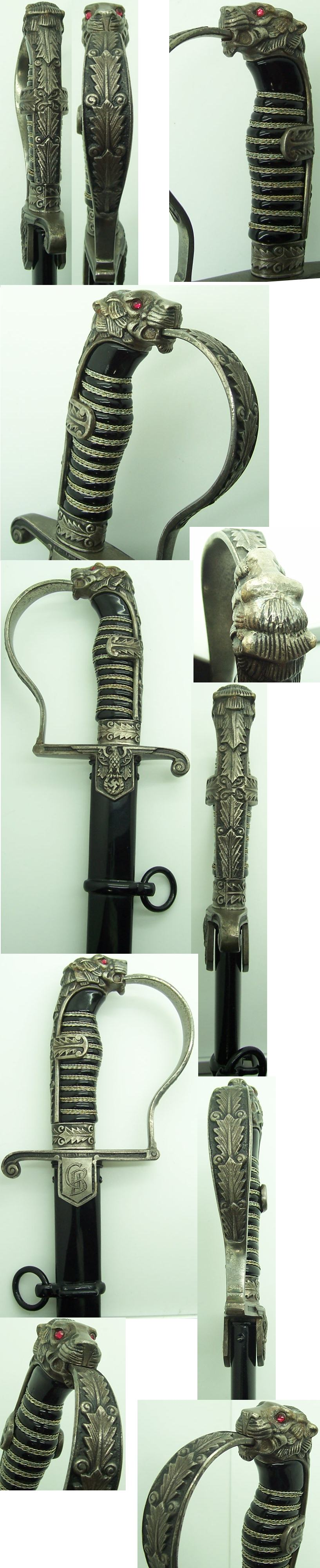 Personalized Early SS Officer Sword