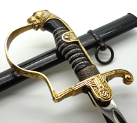 Army Officers Leopard Head Sword by Eickhorn