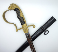 Interesting Clemen & Jung Lion-head Army Artillery Sword