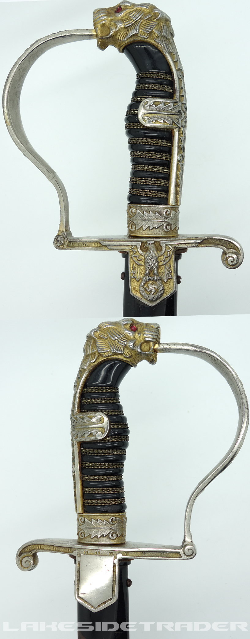 Alcoso Art-deco Army Panther-head Sword
