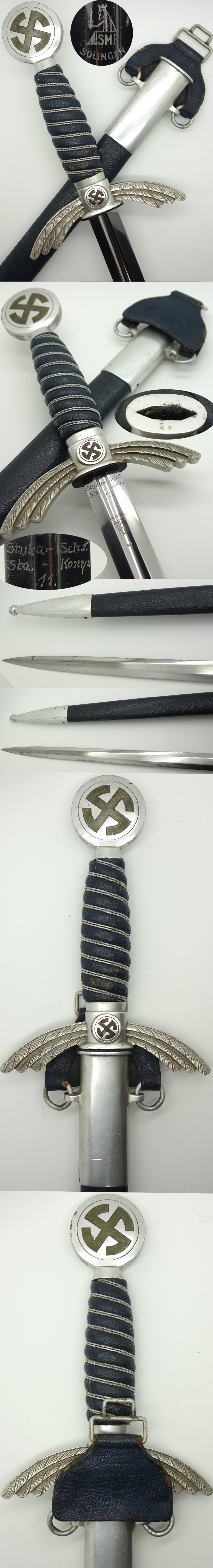 Stuka School owned SMF Luftwaffe Sword