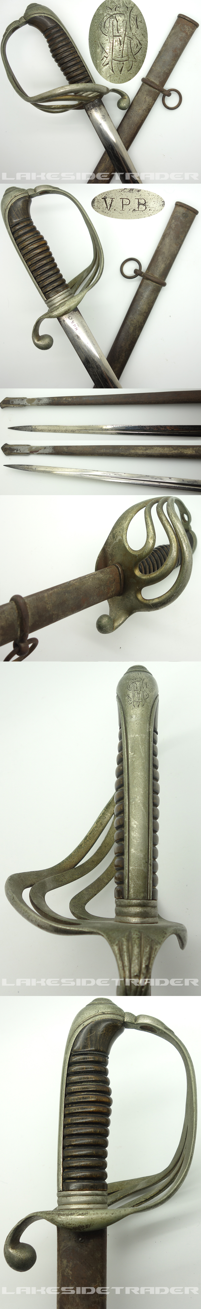 Personalized M1882 French Infantry Officers Sword