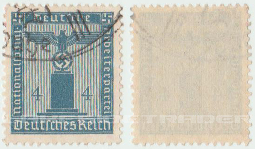 4 Pfenning Deutsches Reich Cancelled Stamp 1938