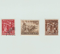 12, 4 and 3 Pfenning Deutsches Reich Stamps