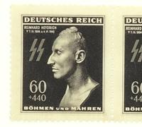 Block of 4 Reinhard Heydrich Death Mask stamps