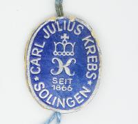 Carl Julius Krebs Sales Tag