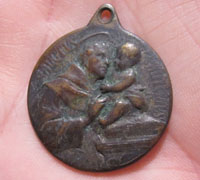 St Anthony and St Christopher Charm